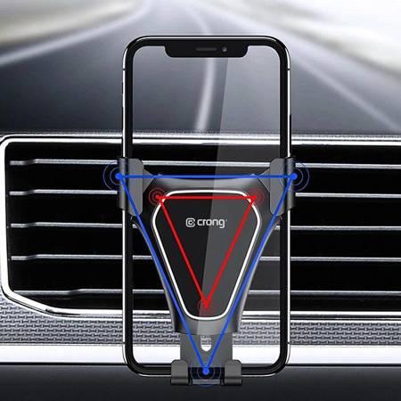"""Crong Gravity Auto-Clip Car Holder - Uchwyt samochodowy grawitacyjny do telefonu 4,7""""- 6,5"""" (czarny)"""