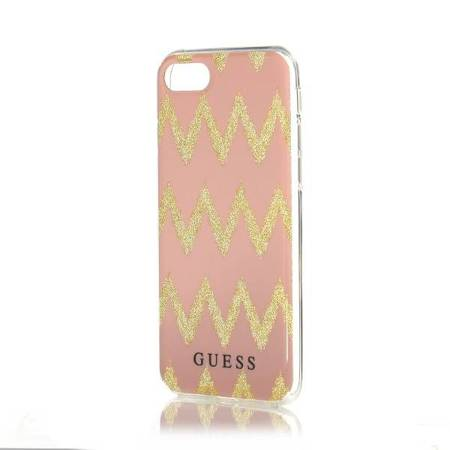 Guess GUHCP7CGPI iPhone 7/8 pink hardcase Ethnic Chic Chevron 3D