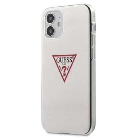 Guess Triangle Logo - Etui iPhone 12  Mini (biały)
