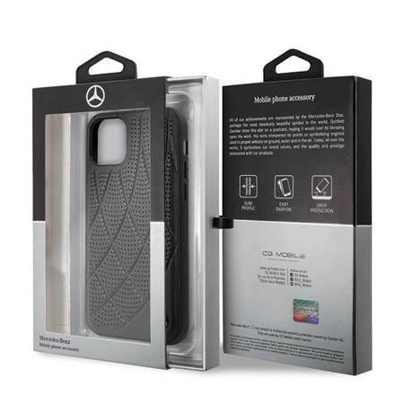 "Mercedes MEHCP12SDIQBK iPhone 12 mini 5,4"" czarny/black hardcase Bow Line"