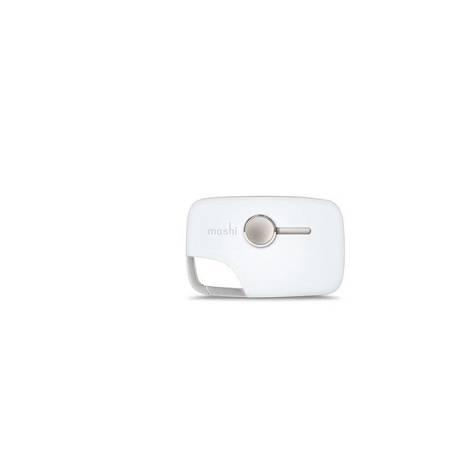 Moshi Xync Lightning - Wielofunkcyjny brelok do ładowania i synchronizacji (biały)