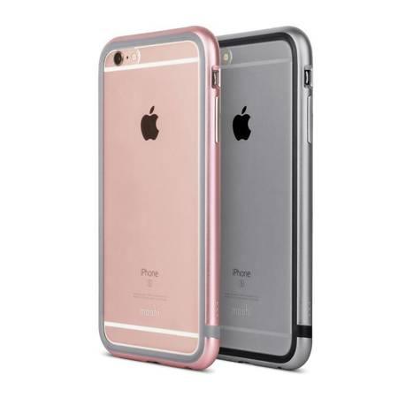 Moshi iGlaze Luxe - Etui z aluminiową ramką iPhone 6s Plus / iPhone 6 Plus (Titanium Grey)