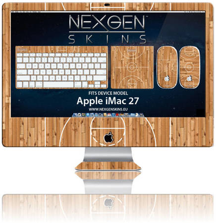 Nexgen Skins - Zestaw skórek na obudowę z efektem 3D iMac 27 (Hardwood Classic 3D)