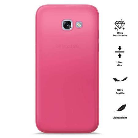 PURO 0.3 Nude - Etui Samsung Galaxy A3 (2017) (Fluo Pink)