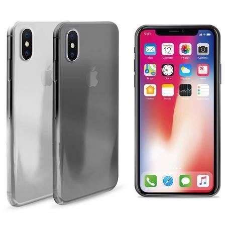 PURO 0.3 Nude - Etui iPhone Xs / X (czarny przezroczysty)