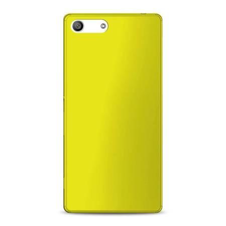 PURO Ultra Slim 0.3 Cover MFX - Zestaw etui + folia na ekran Xperia M5 (limonkowy)