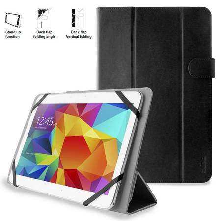 PURO Universal Booklet Easy - Etui tablet 10.1'' w/Folding back + stand up + Magnetic Closure (czarny)