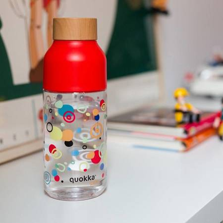 Quokka Ice Kids - Butelka na wodę z tritanu 570 ml (Dots)
