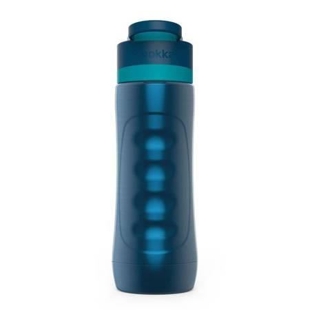 Quokka Spring - Butelka bidon termiczny ze stali nierdzewnej z systemem szybkiego otwierania 600 ml (Azurite)