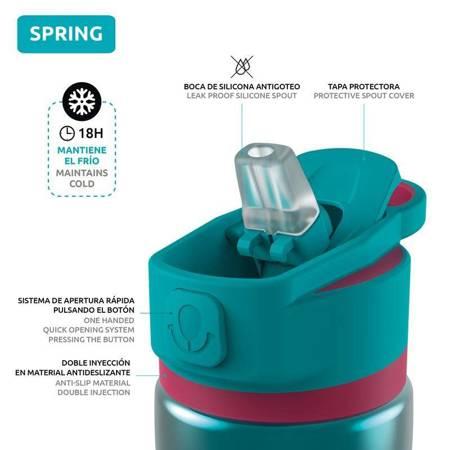 Quokka Spring - Butelka bidon termiczny ze stali nierdzewnej z systemem szybkiego otwierania 600 ml (Bondi)