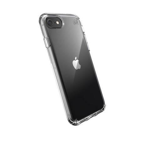 Speck Presidio Perfect-Clear - Etui iPhone SE 2020 / 8 / 7 z powłoką MICROBAN (Clear)