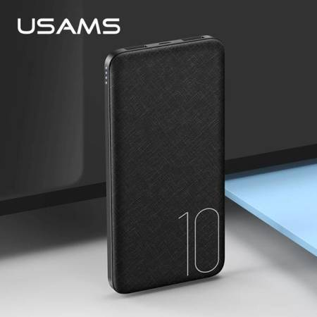 USAMS Powerbank PB7 10000 mAh 2A Fast Charging czarny/black 10KCD6301 (US-CD63)