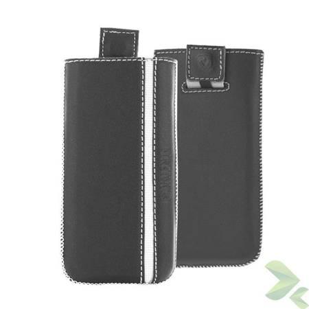 Valenta Pocket Stripe - Skórzane etui wsuwka Samsung Galaxy S4/S III, HTC One i inne (czarny)