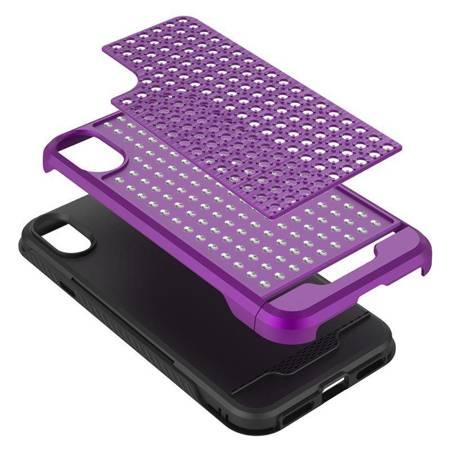 Zizo Star Diamond Hybrid Cover - Etui iPhone X (Purple/Black)